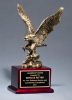 Antique Bronze Finished Eagle Trophy Patriotic Awards