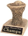 Basketball - Gold Resin Trophy Basketball